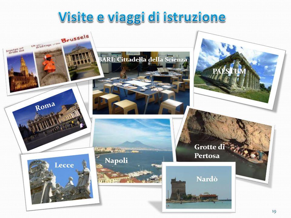 BARI: Cittadella della Scienza PAESTUM Grotte di Pertosa Napoli Roma Nardò Lecce 19