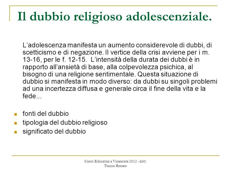 Il dubbio religioso adolescenziale.