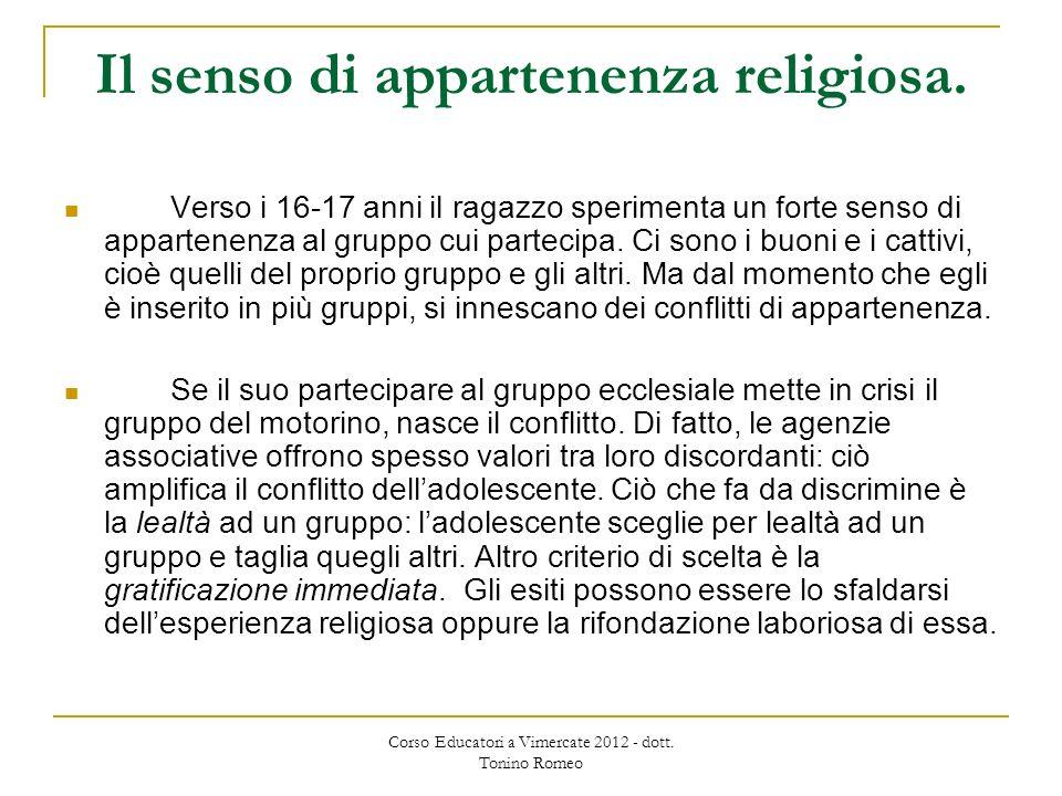 Il senso di appartenenza religiosa.