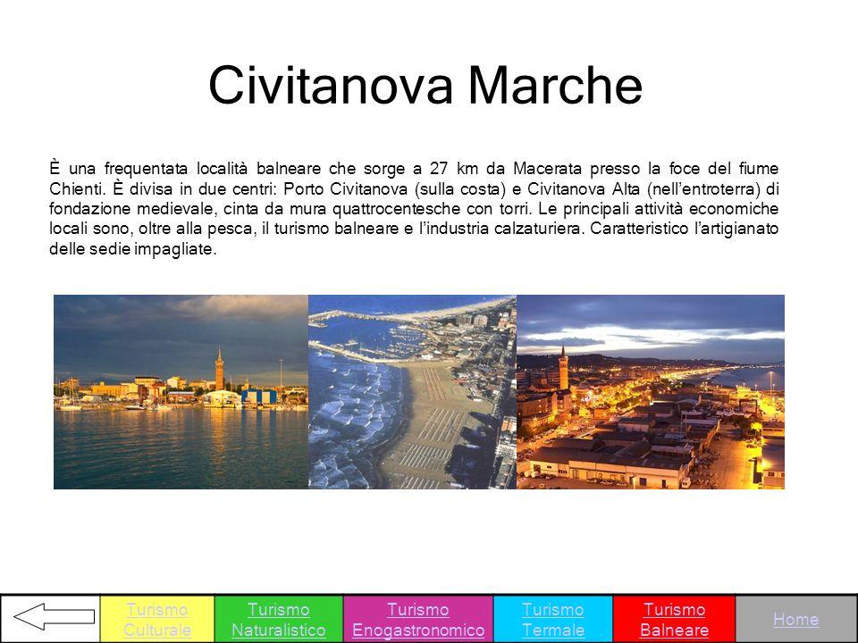 È una frequentata località balneare che sorge a 27 km da Macerata presso la foce del fiume Chienti. È divisa in due centri: Porto Civitanova (sulla co
