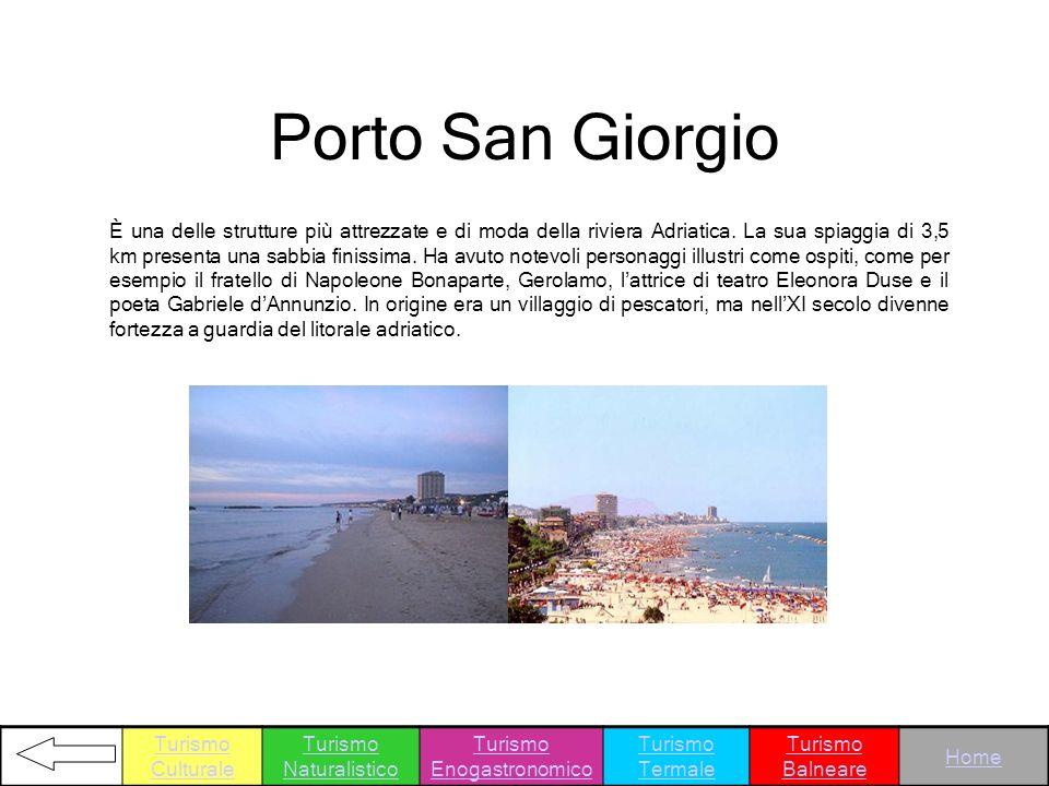 È una delle strutture più attrezzate e di moda della riviera Adriatica. La sua spiaggia di 3,5 km presenta una sabbia finissima. Ha avuto notevoli per