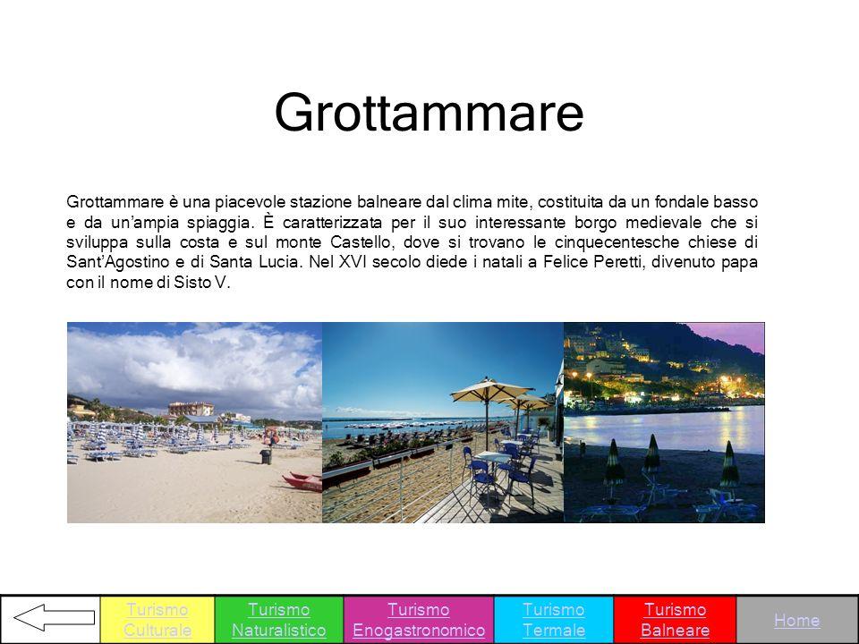 Grottammare è una piacevole stazione balneare dal clima mite, costituita da un fondale basso e da unampia spiaggia. È caratterizzata per il suo intere