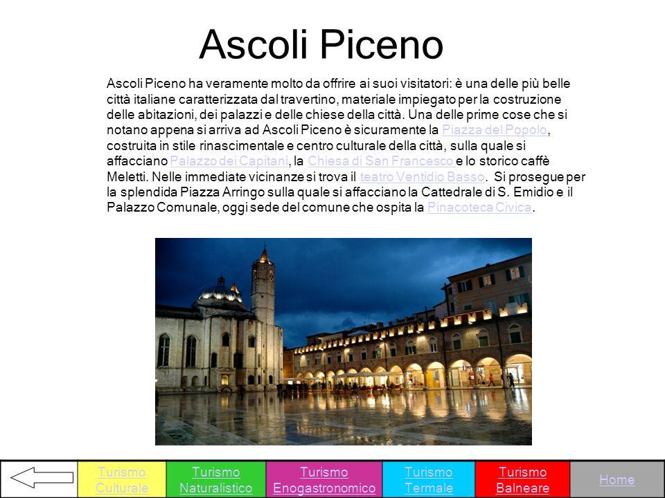 Ascoli Piceno ha veramente molto da offrire ai suoi visitatori: è una delle più belle città italiane caratterizzata dal travertino, materiale impiegat