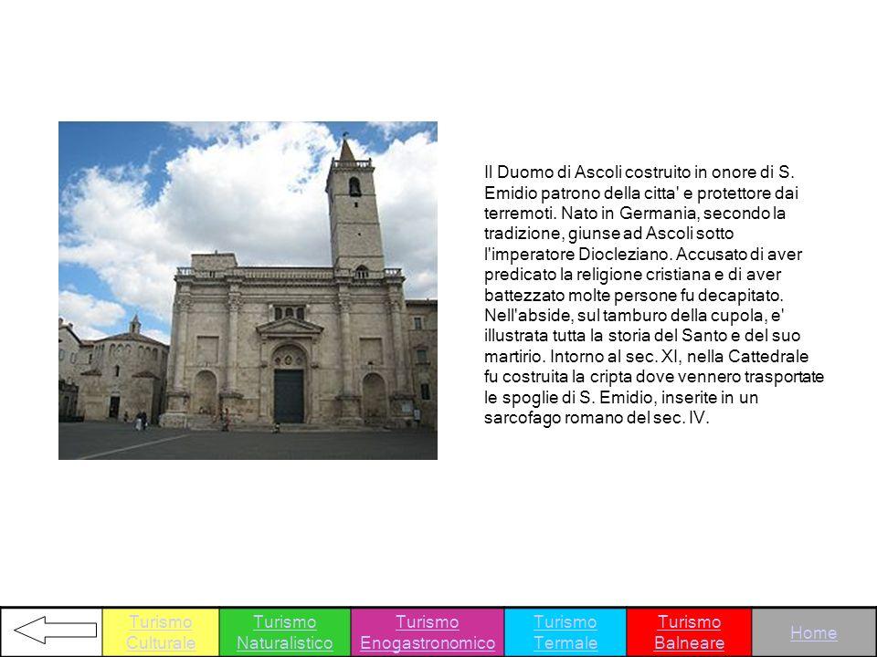 Il Duomo di Ascoli costruito in onore di S. Emidio patrono della citta' e protettore dai terremoti. Nato in Germania, secondo la tradizione, giunse ad