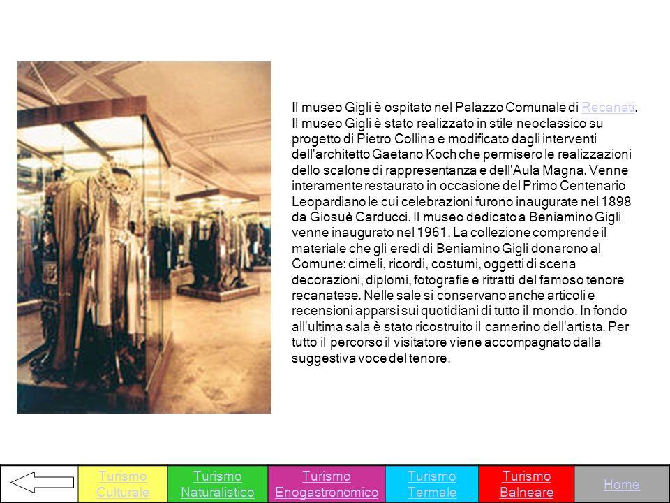 Il museo Gigli è ospitato nel Palazzo Comunale di Recanati. Il museo Gigli è stato realizzato in stile neoclassico su progetto di Pietro Collina e mod