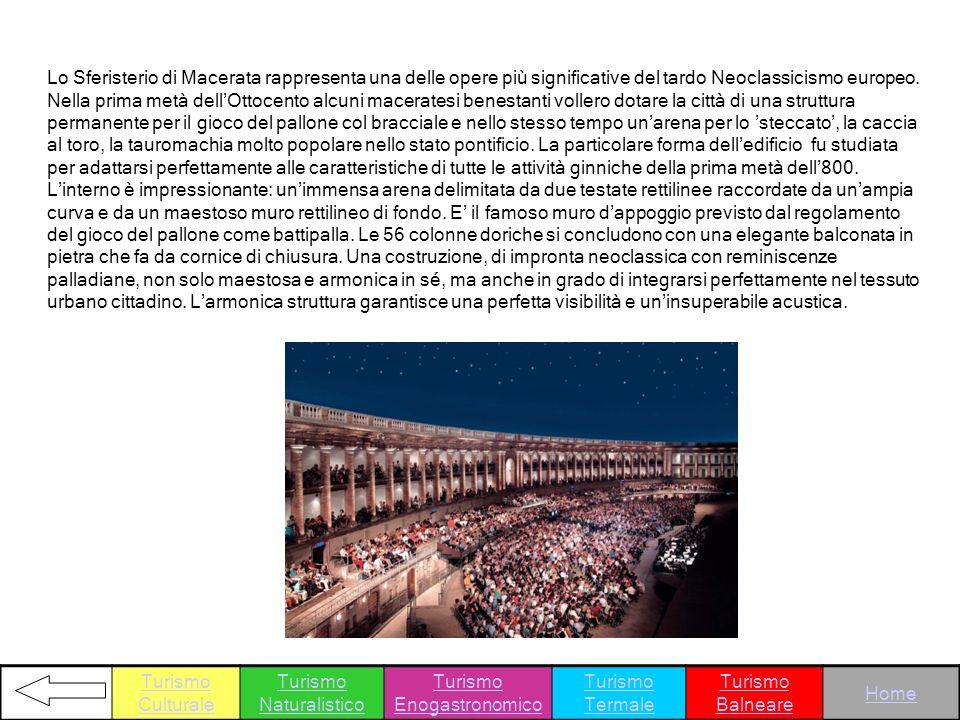 Lo Sferisterio di Macerata rappresenta una delle opere più significative del tardo Neoclassicismo europeo. Nella prima metà dellOttocento alcuni macer
