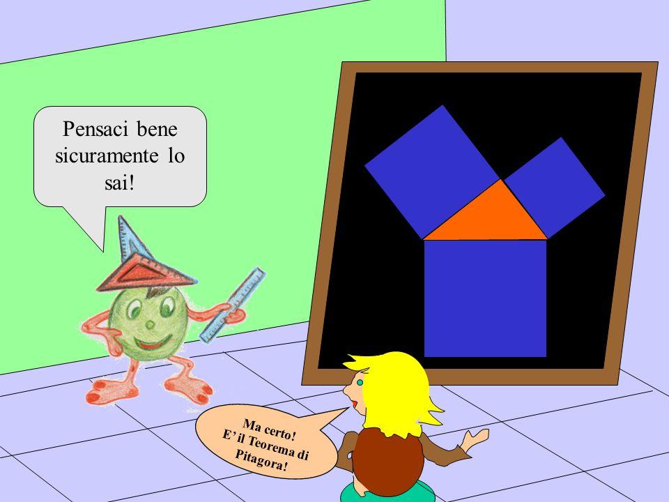 Pensaci bene sicuramente lo sai! Ma certo! E il Teorema di Pitagora!