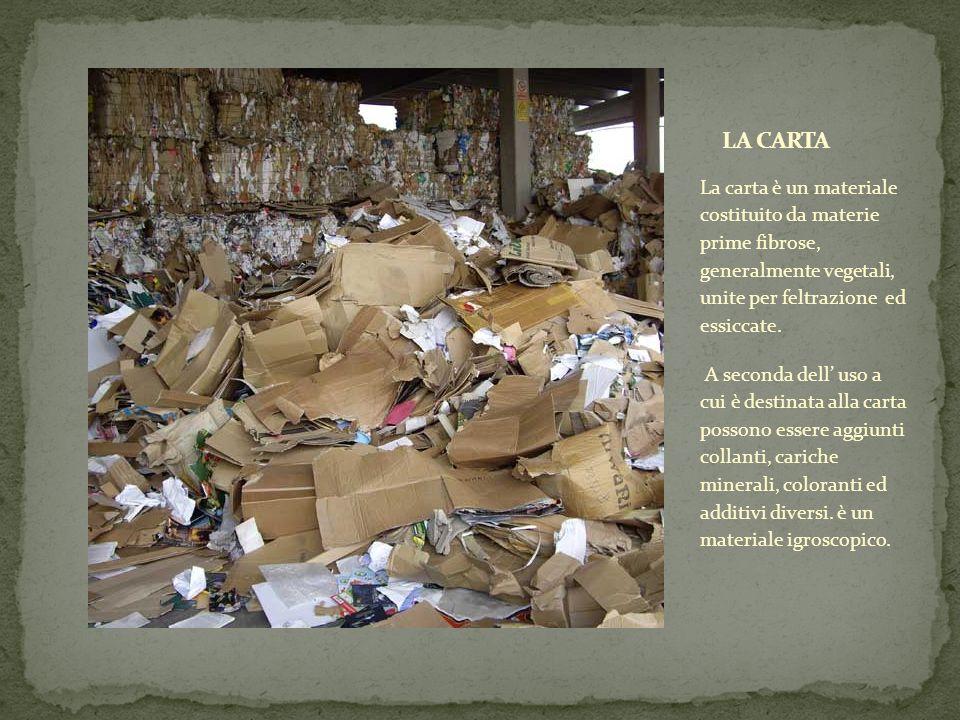La carta è un materiale costituito da materie prime fibrose, generalmente vegetali, unite per feltrazione ed essiccate. A seconda dell uso a cui è des