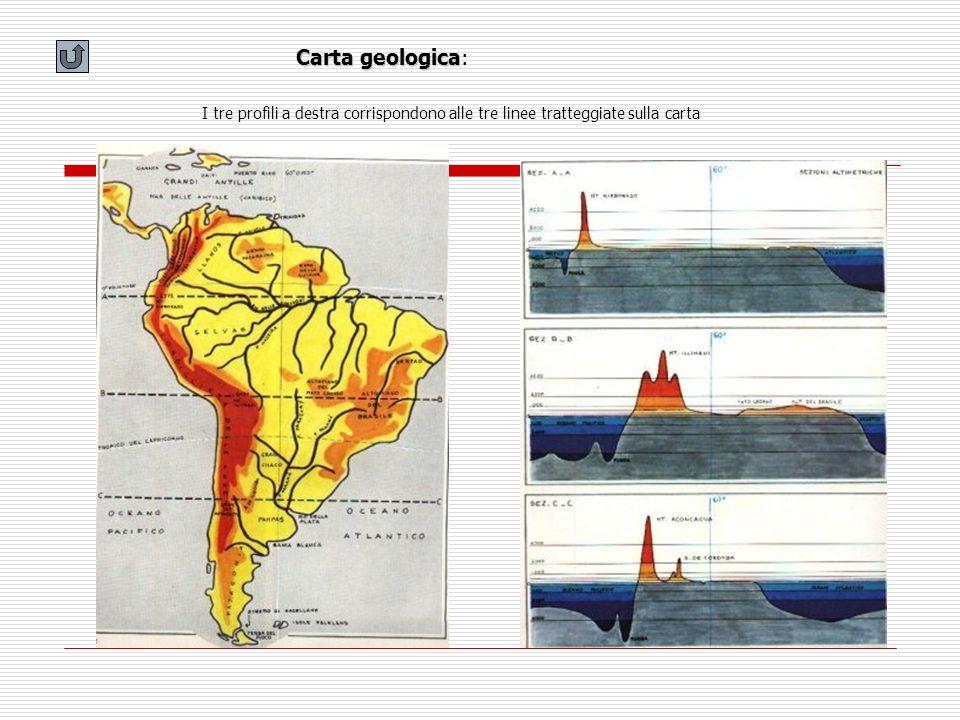 Carta geologica Carta geologica: I tre profili a destra corrispondono alle tre linee tratteggiate sulla carta