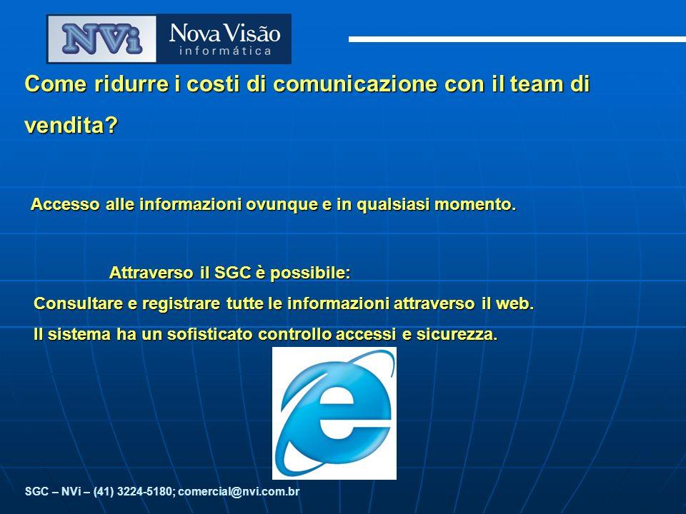 Come ridurre i costi di comunicazione con il team di vendita.