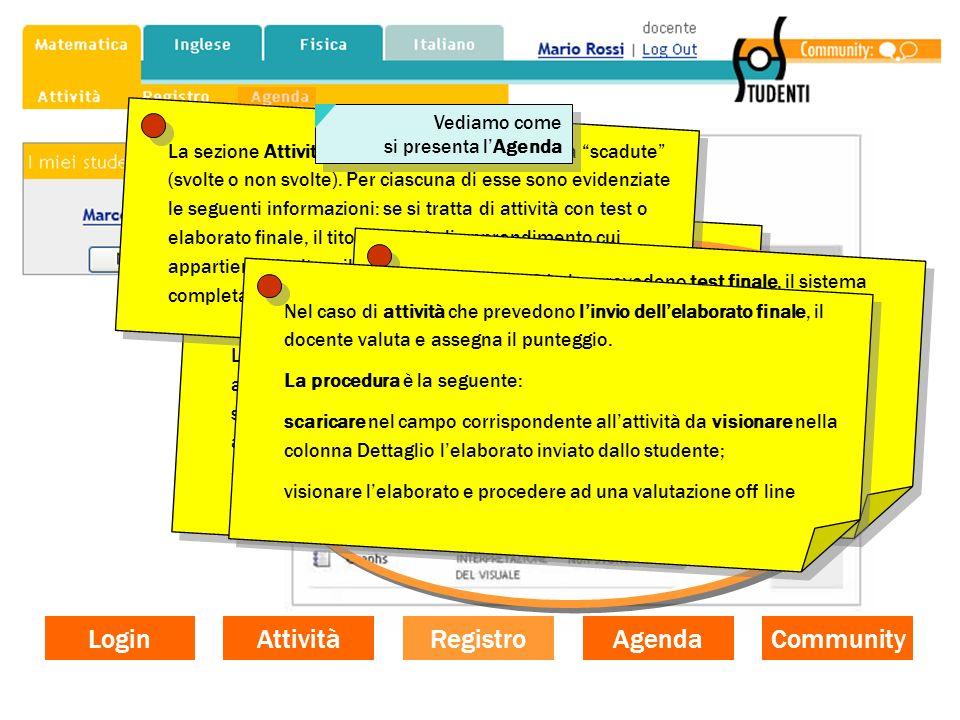 La funzione documentativa Il registro si articola in due sezioni: Attività in corso e Attività chiuse. La sezione Attività in corso riporta le attivit