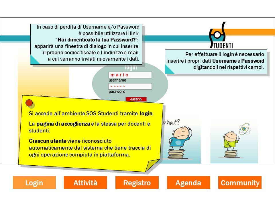 La funzione documentativa Per visualizzare lattività svolta dallo studente, clicca sul nome (ad esempio, Marco Bianchi).