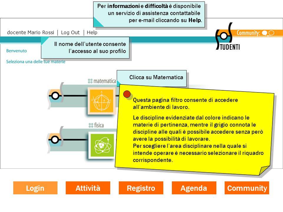 La funzione documentativa Il registro si articola in due sezioni: Attività in corso e Attività chiuse.