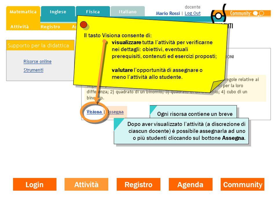 Clicca sul giorno della settimana che ti interessa Clicca sul giorno della settimana che ti interessa Login Community Agenda Registro Attività