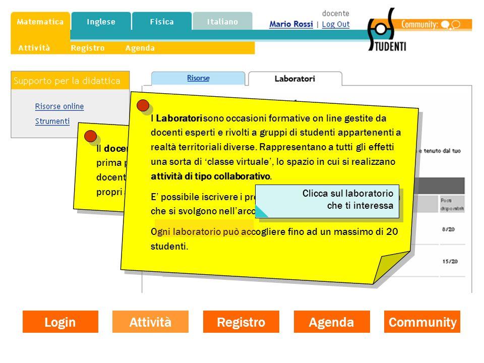 2 - Forum Gli studenti, appartenenti allo stesso gruppo, discutono e scambiano informazioni e risorse tra loro e con il proprio docente.