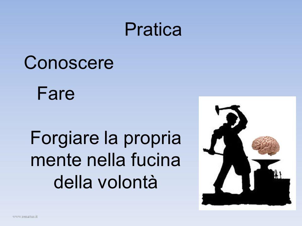 Pratica Conoscere Fare Forgiare la propria mente nella fucina della volontà www.renatus.it