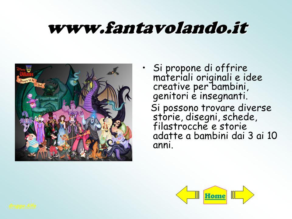 www.ilportaledeibambini.i t E un portale interamente dedicato ai bambini dai 5 ai 12 anni.