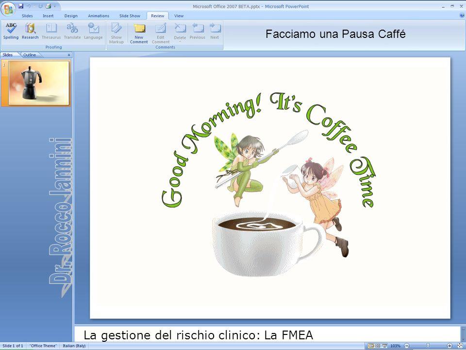 La gestione del rischio clinico: La FMEA Facciamo una Pausa Caffé