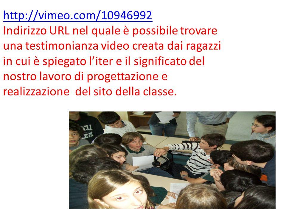 http://vimeo.com/10946992 Indirizzo URL nel quale è possibile trovare una testimonianza video creata dai ragazzi in cui è spiegato liter e il signific
