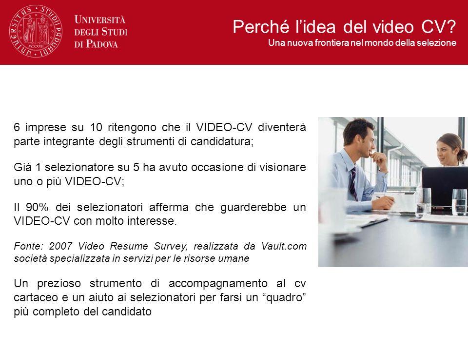 6 imprese su 10 ritengono che il VIDEO-CV diventerà parte integrante degli strumenti di candidatura; Già 1 selezionatore su 5 ha avuto occasione di vi
