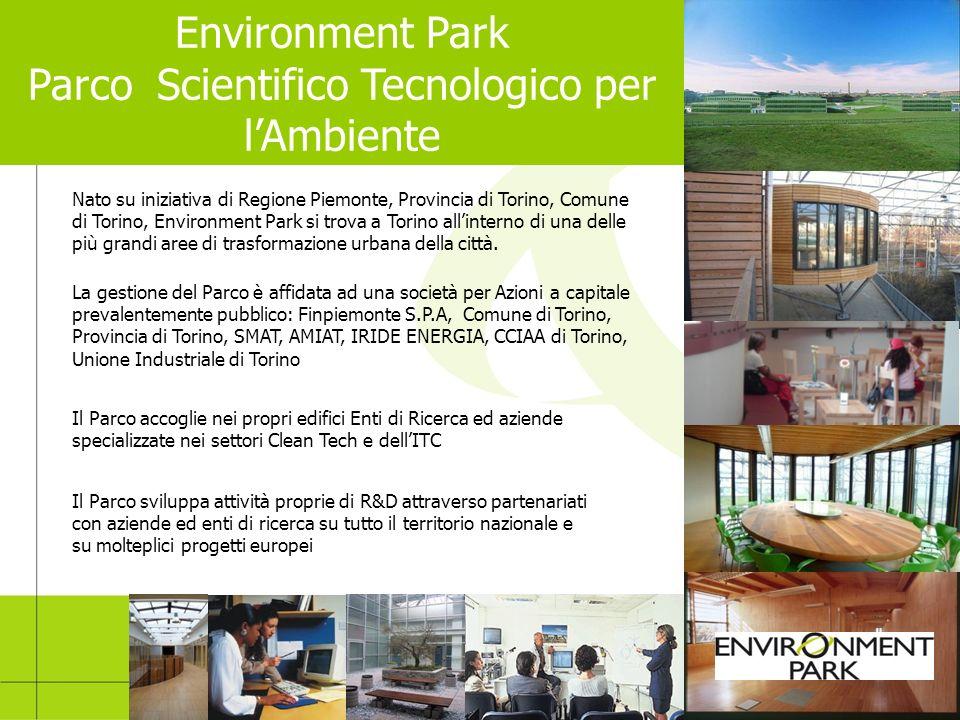 Nato su iniziativa di Regione Piemonte, Provincia di Torino, Comune di Torino, Environment Park si trova a Torino allinterno di una delle più grandi a