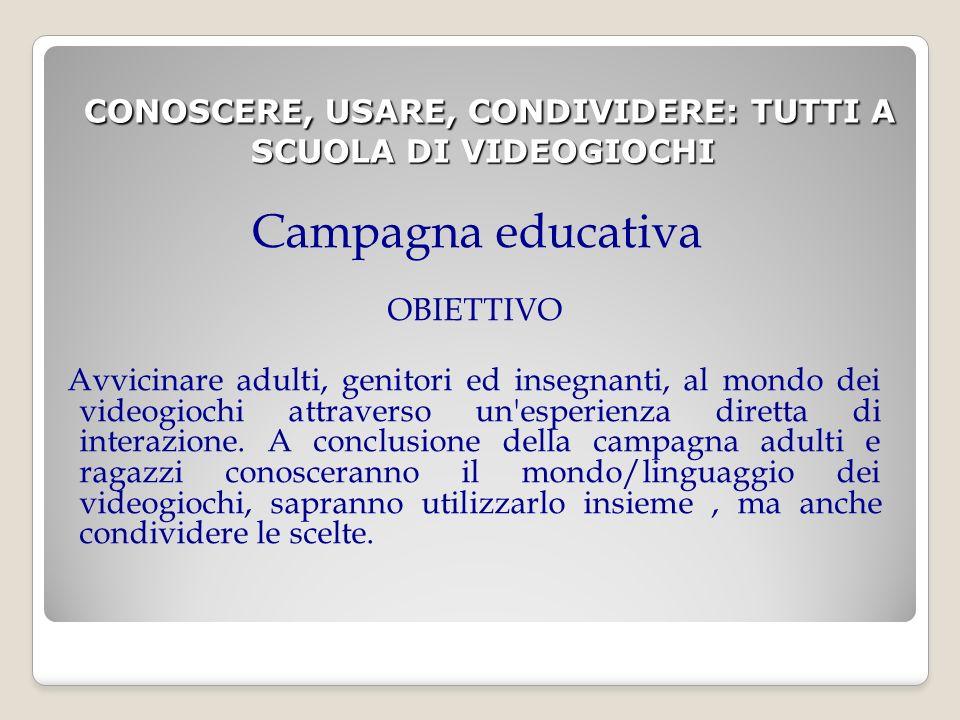 Concorso A tutte le scuole partecipanti alla campagna verrà proposto un concorso che ha come obiettivo lo sviluppo e la produzione di un videomessaggio che abbia come tematica il sistema di classificazione dei videogiochi PEGI 2.0.