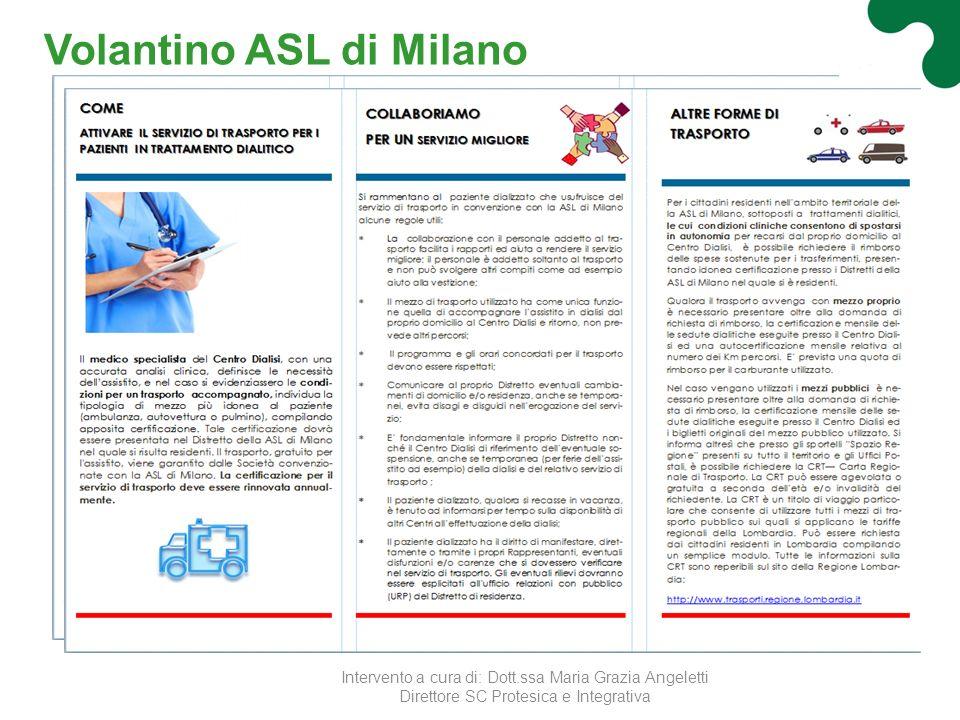 Volantino ASL di Milano
