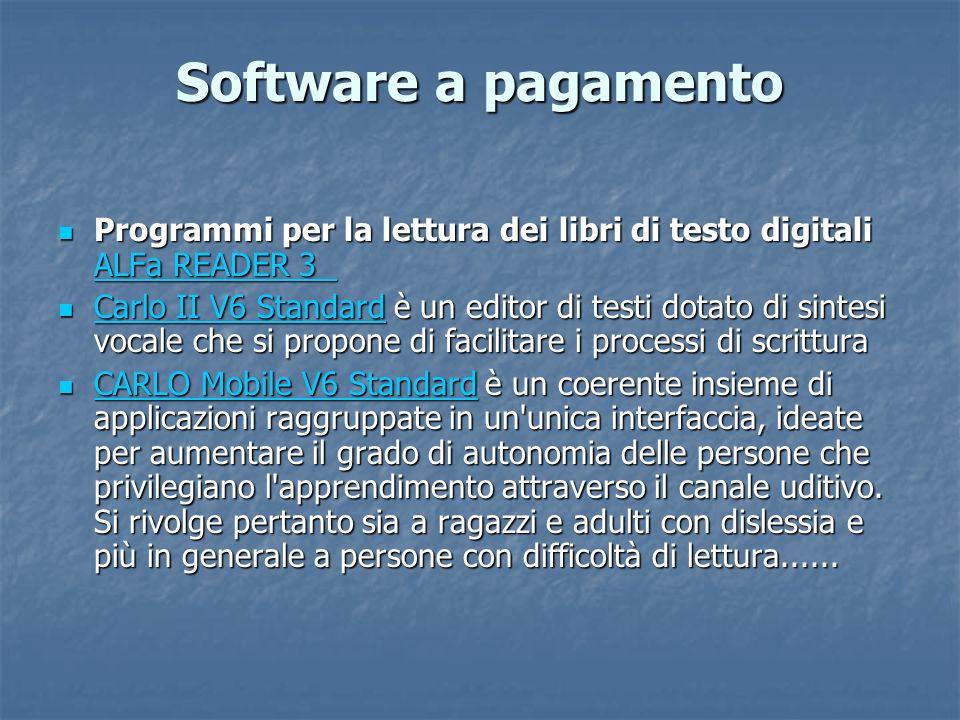Software a pagamento Programmi per la lettura dei libri di testo digitali ALFa READER 3 Programmi per la lettura dei libri di testo digitali ALFa READ