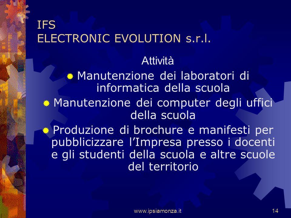 www.ipsiamonza.it13 IFS ELECTRONIC EVOLUTION s.r.l.