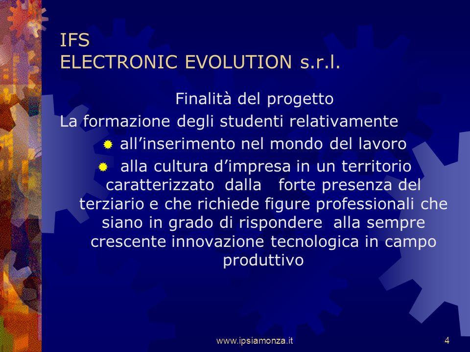 www.ipsiamonza.it4 IFS ELECTRONIC EVOLUTION s.r.l.
