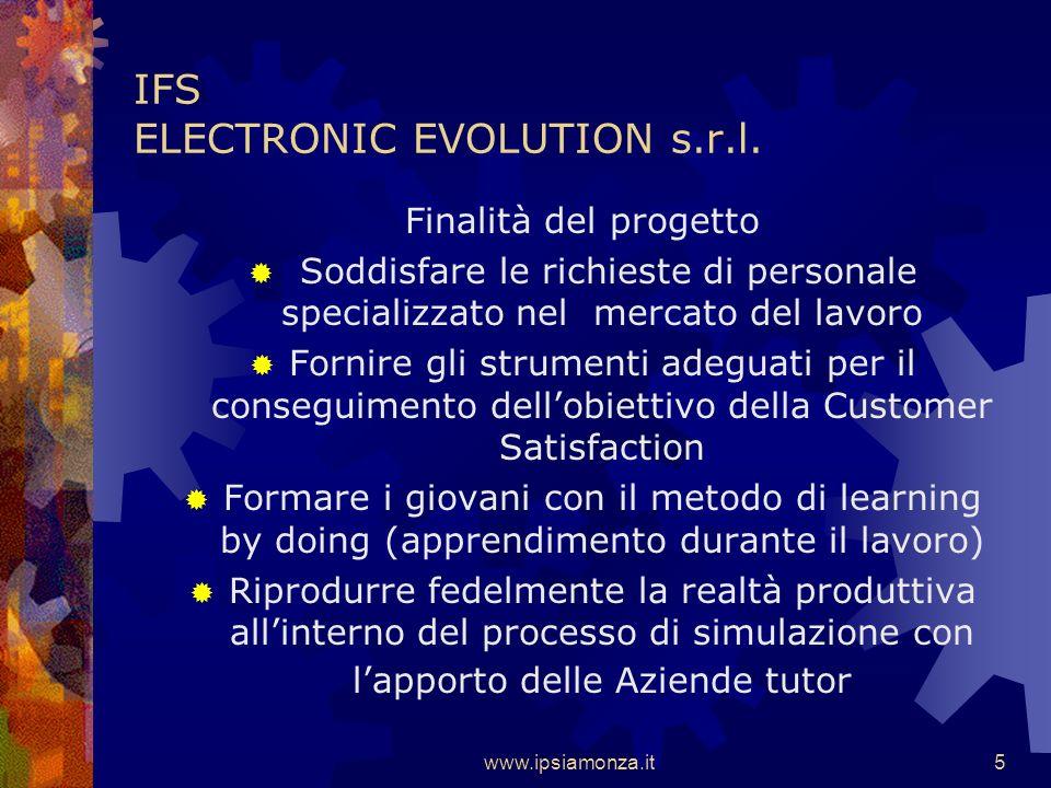 www.ipsiamonza.it15 IFS ELECTRONIC EVOLUTION s.r.l.