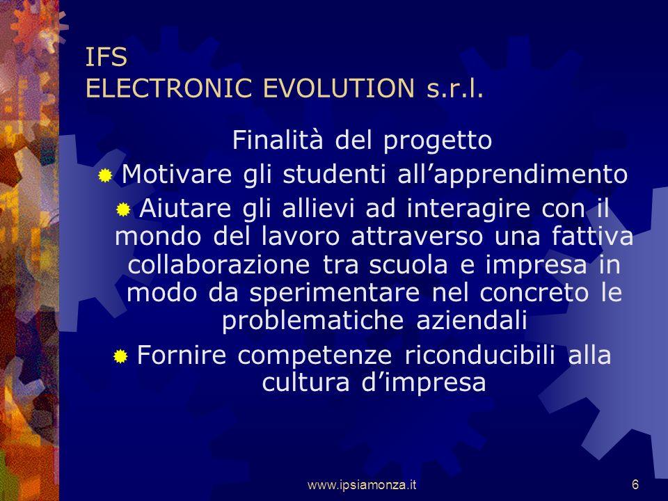 www.ipsiamonza.it6 IFS ELECTRONIC EVOLUTION s.r.l.