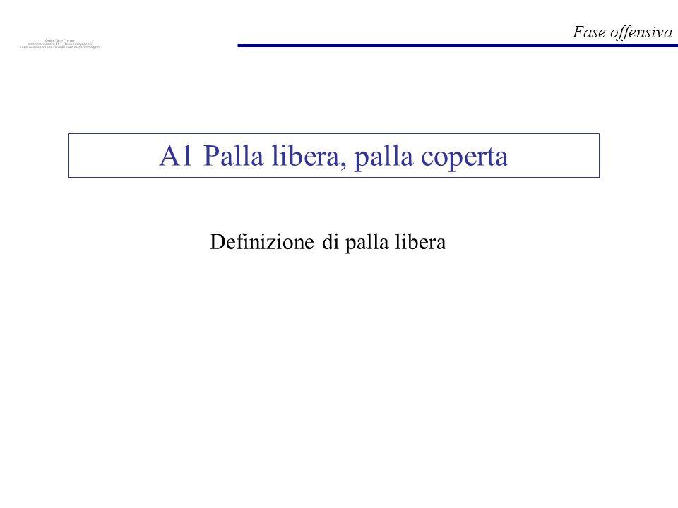 Fase offensiva Definizione di palla libera A1 Palla libera, palla coperta