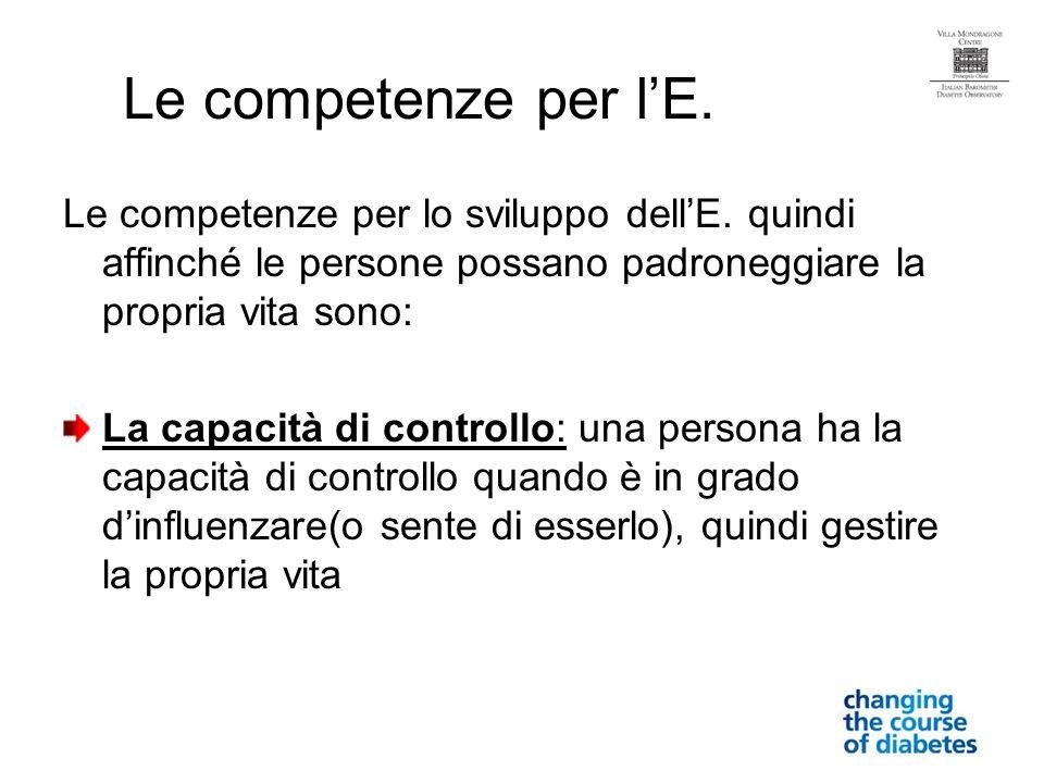 Le competenze per lE. Le competenze per lo sviluppo dellE.
