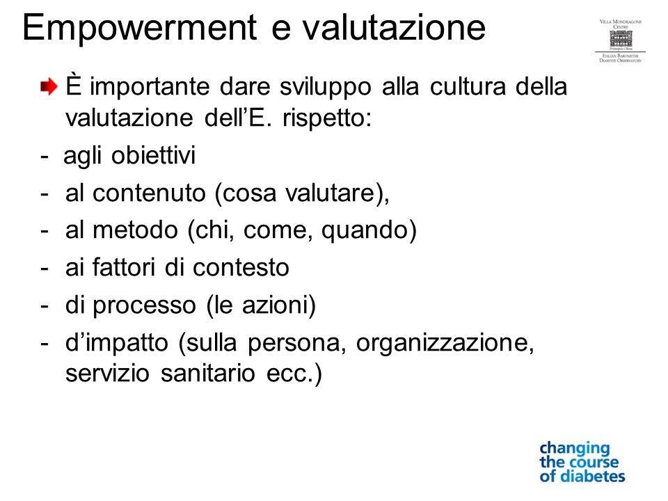 È importante dare sviluppo alla cultura della valutazione dellE.