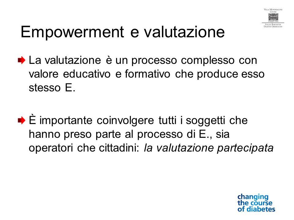 La valutazione è un processo complesso con valore educativo e formativo che produce esso stesso E.