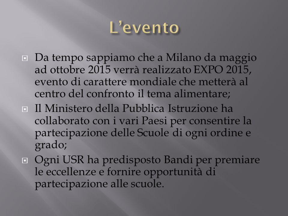 Da tempo sappiamo che a Milano da maggio ad ottobre 2015 verrà realizzato EXPO 2015, evento di carattere mondiale che metterà al centro del confronto
