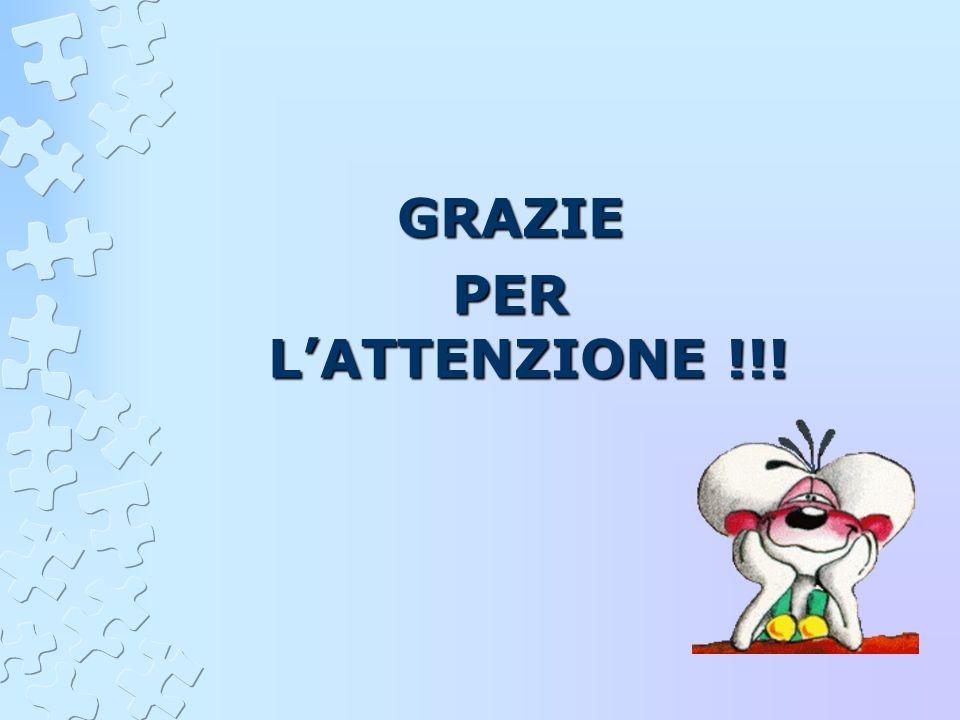 GRAZIE PER LATTENZIONE !!!