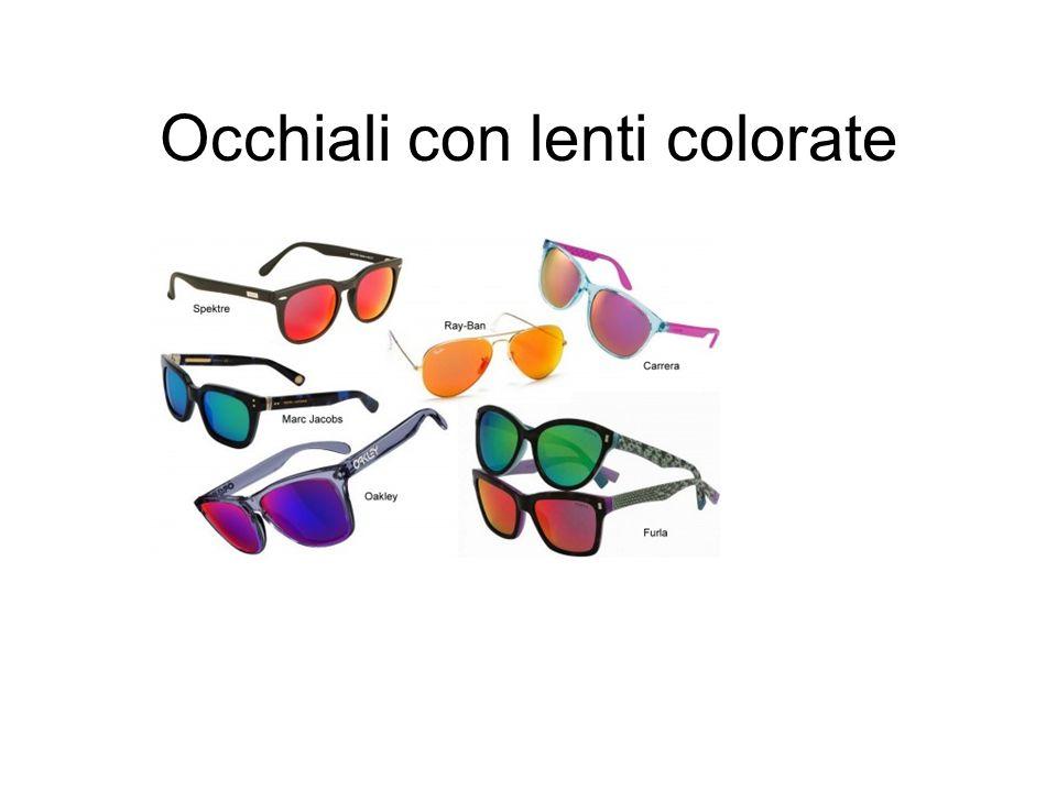 Occhiali con lenti colorate