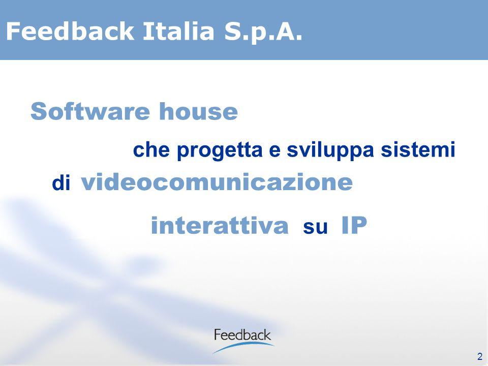 2 Software house che progetta e sviluppa sistemi videocomunicazione interattiva su IP di Feedback Italia S.p.A.
