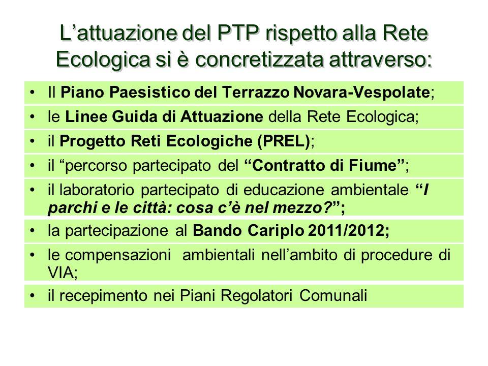 Uno degli strumenti di cui si avvale il Piano Territoriale Provinciale è il Progetto Strategico di rilevanza provinciale di Rete Ecologica, di fondame