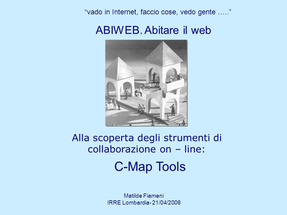 Matilde Fiameni IRRE Lombardia- 21/04/2006 Quaderno CMap Passo a passo Strumenti di collaborazione Modulo 3g