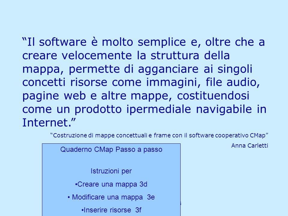 Matilde Fiameni IRRE Lombardia- 21/04/2006 Il software è molto semplice e, oltre che a creare velocemente la struttura della mappa, permette di agganc