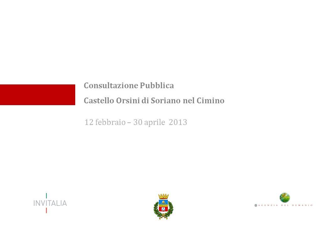 12 febbraio – 30 aprile 2013 Consultazione Pubblica Castello Orsini di Soriano nel Cimino