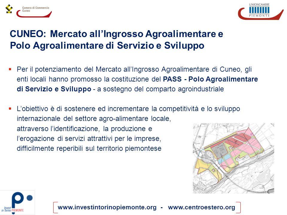www.investintorinopiemonte.org - www.centroestero.org Per il potenziamento del Mercato allIngrosso Agroalimentare di Cuneo, gli enti locali hanno prom