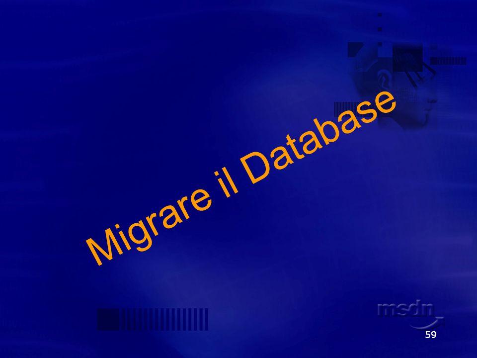 59 Migrare il Database