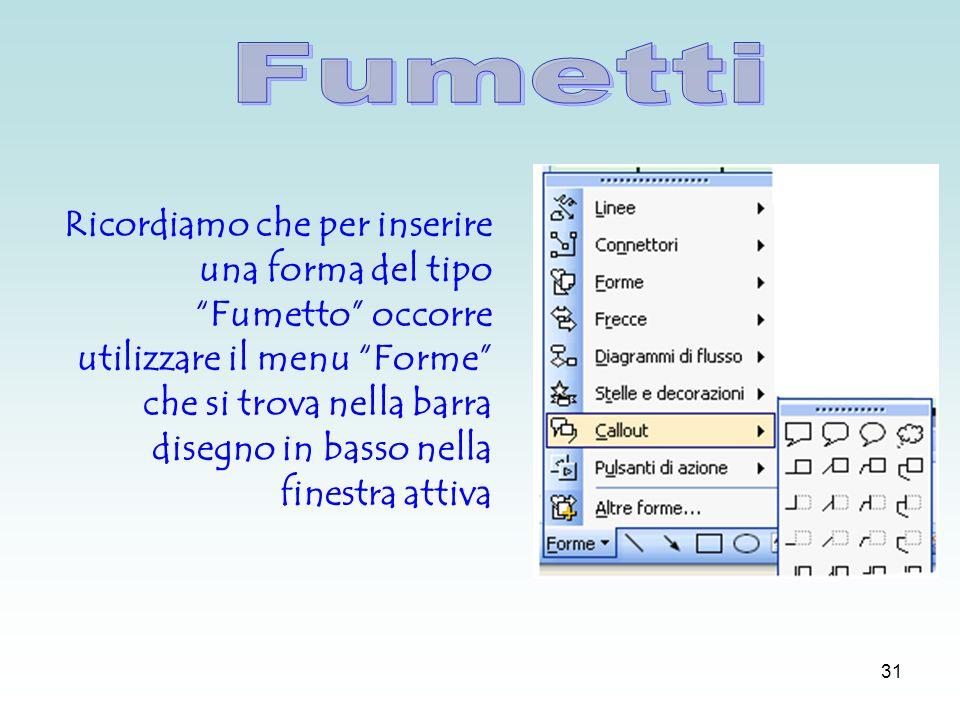 30 Dal menu modifica duplica è possibile duplicare una diapositiva con tutte le caratteristiche (sfondo, caselle di testo e immagini) della diapositiva di origine