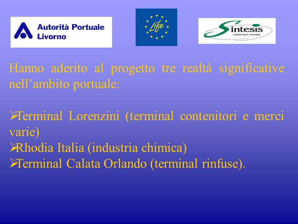 LAutorità Portuale (1) Nel 1994 il Parlamento italiano ha approvato una legge (L.