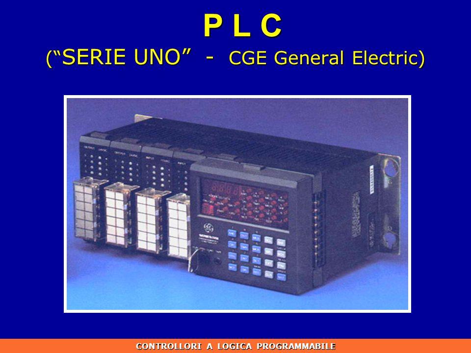 P L C ( SERIE UNO - CGE General Electric) CONTROLLORI A LOGICA PROGRAMMABILE