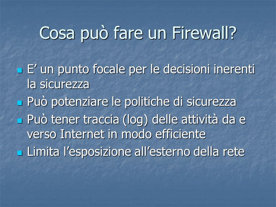 Cosa può fare un Firewall.